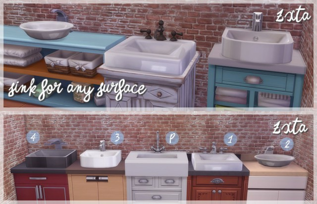 Sinks For Any Surface by ZxTa