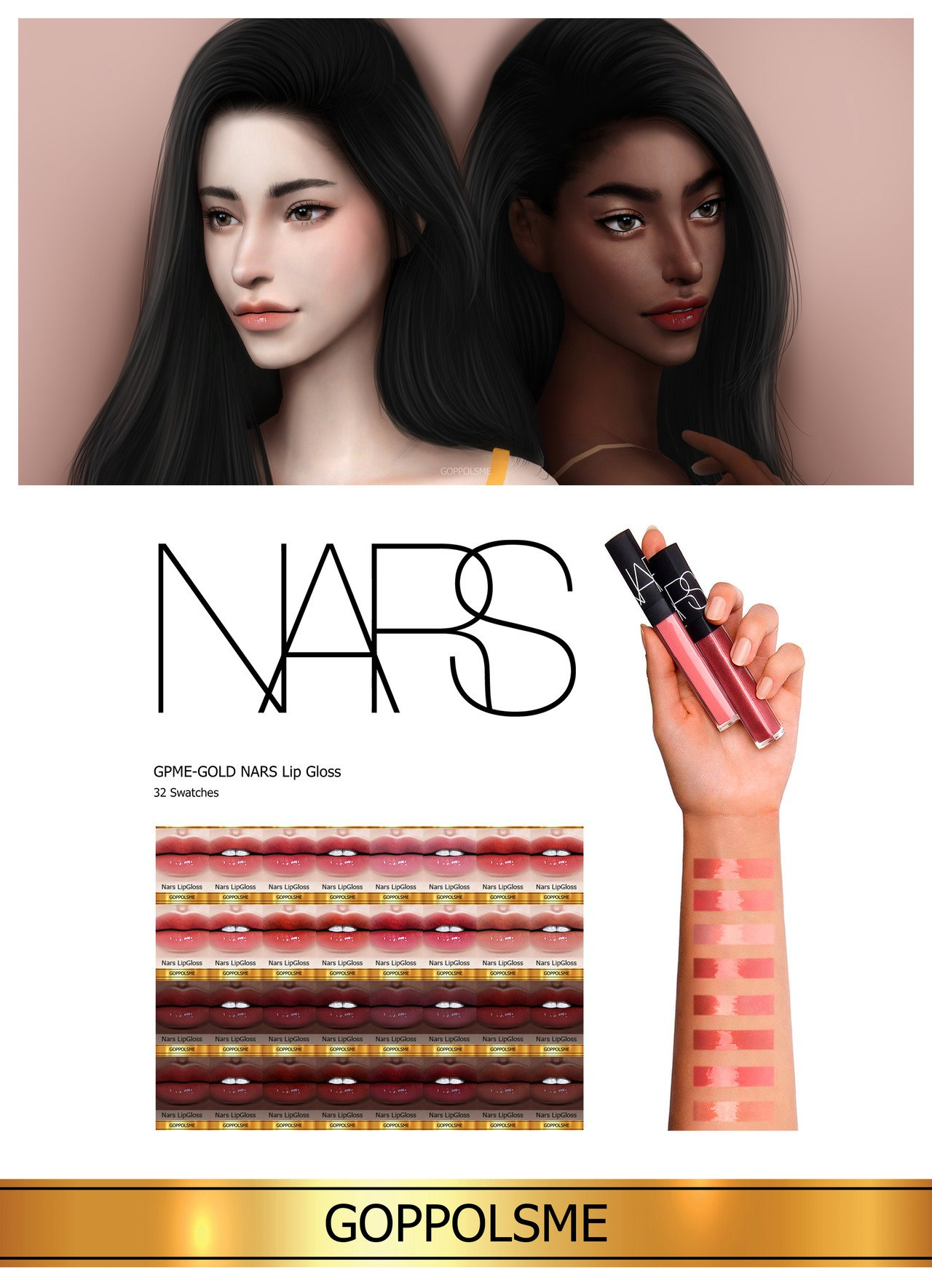 GOLD NARS Lip Gloss by GoppolsMe