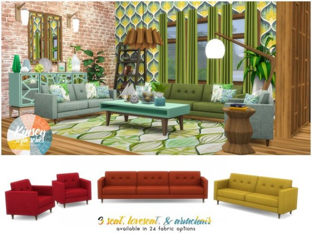 Kinsey Sofa Series - MCM Inspired Seating by Peacemaker ic