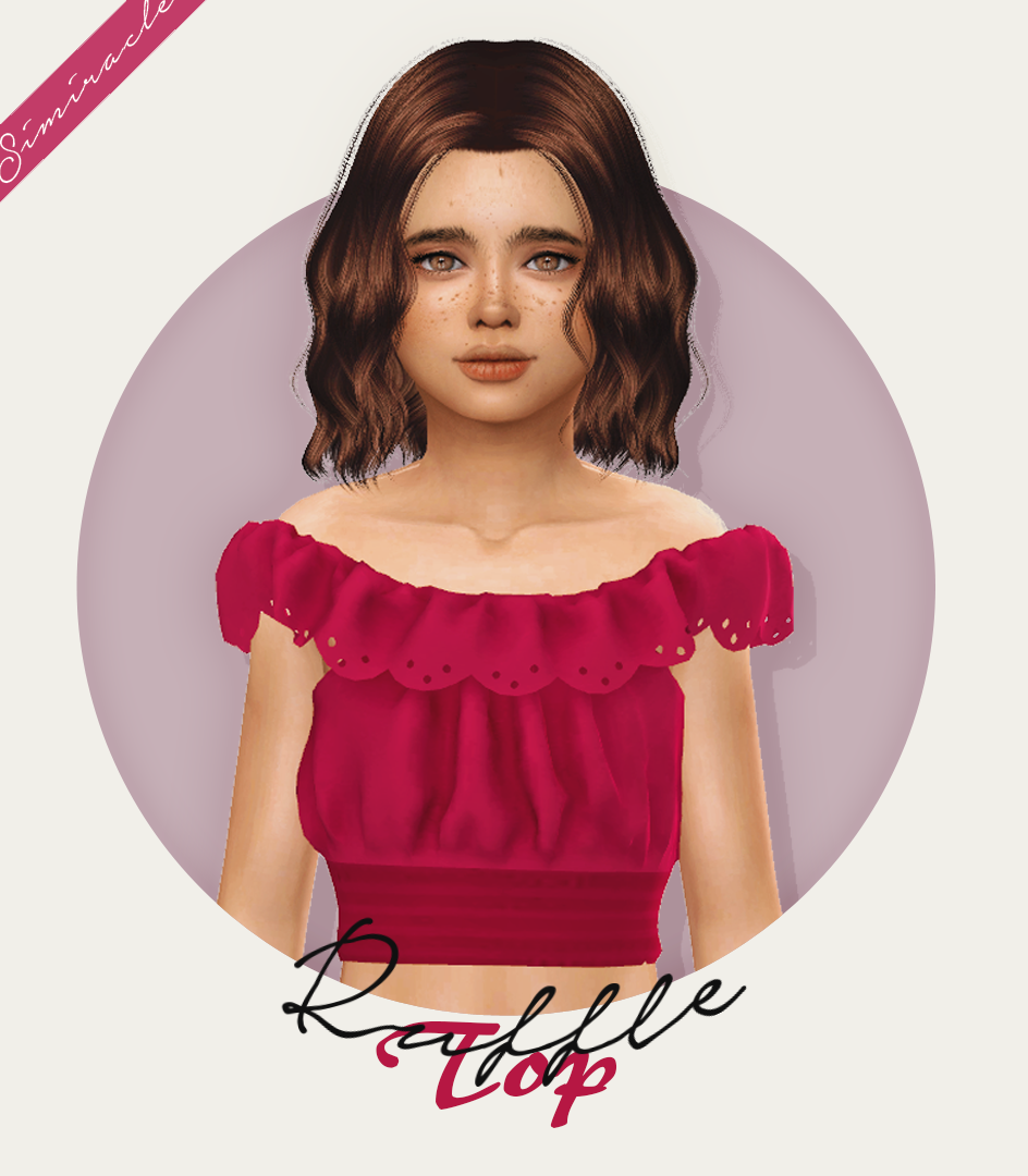 Ruffle Crop Top recolored for kids by Simiracle