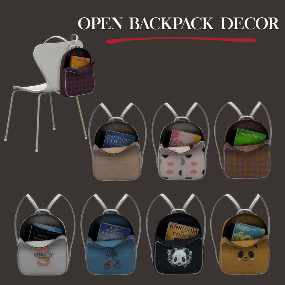 Decor backpack open by Leo-Sims
