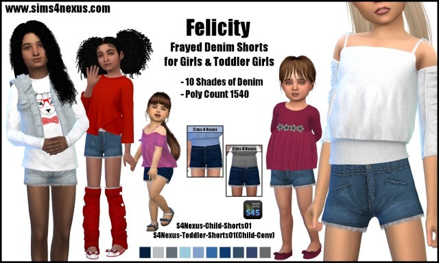 Felicity shorts by Sims4Nexus