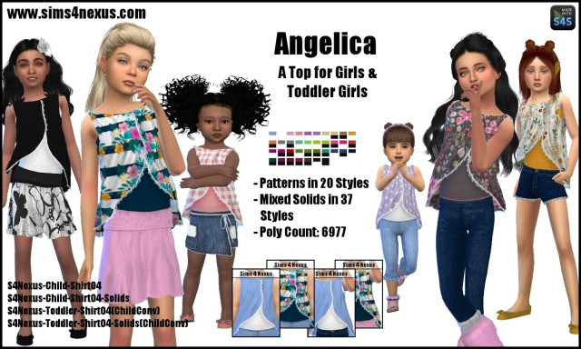 Angelica tops by Sims4Nexus