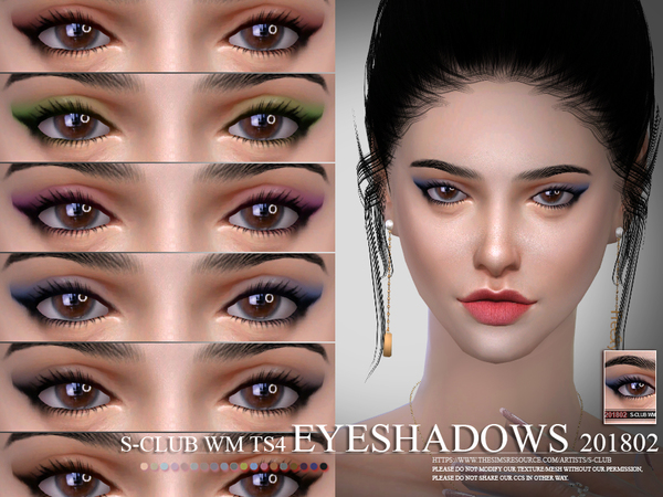 S-Club WM thesims4 Eyeshadow 201802