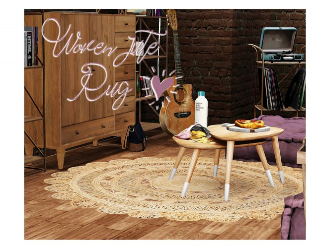 Woven Jute Rug by Halosims