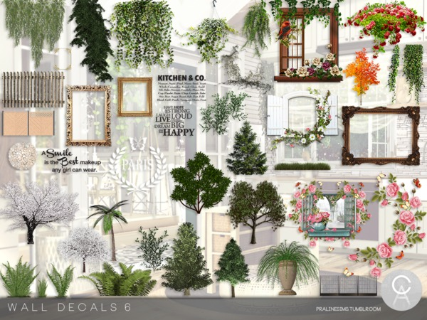 Wall Decals 6 by Pralinesims