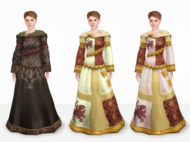 Queen Dress from The Sims Medieval by Danjaley
