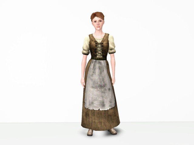Tattered Dress from The Sims Medieval by Danjaley