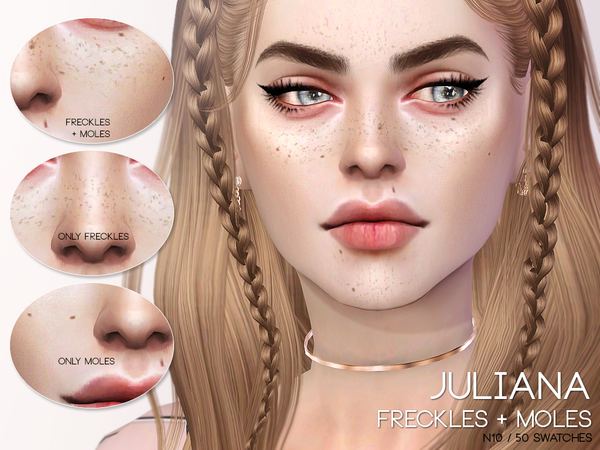 Juliana Freckles + Moles N10 by Pralinesims