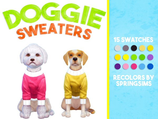 Doggie Sweaters - Small & Large Dogs by SpringSims1