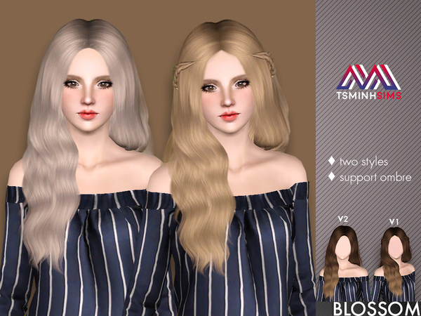 Blossom ( Hair 37 Set ) by TsminhSims