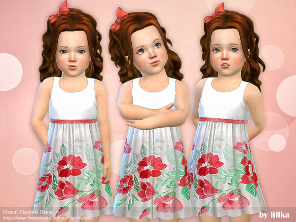 Floral Pleated Dress by lillka