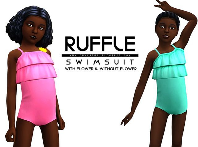 Ruffle Swimsuit for Girls by OnyxSims