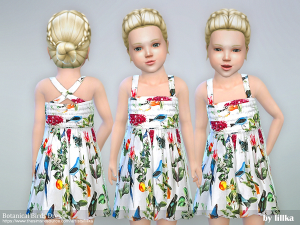 Botanical Birds Dress by lillka
