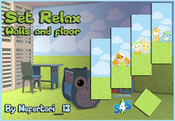 Set of childrens walls and floors by Nefertari 13