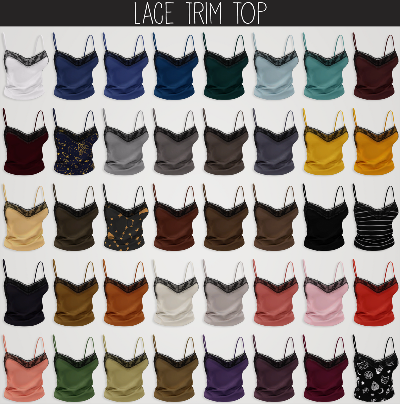 lace trim top by Elliesimple
