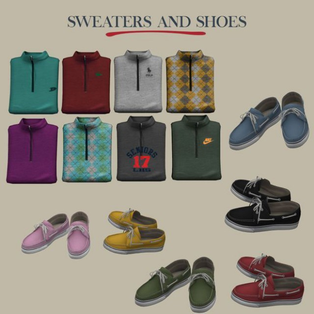 Folded Sweaters and Shoes by Leo-sims