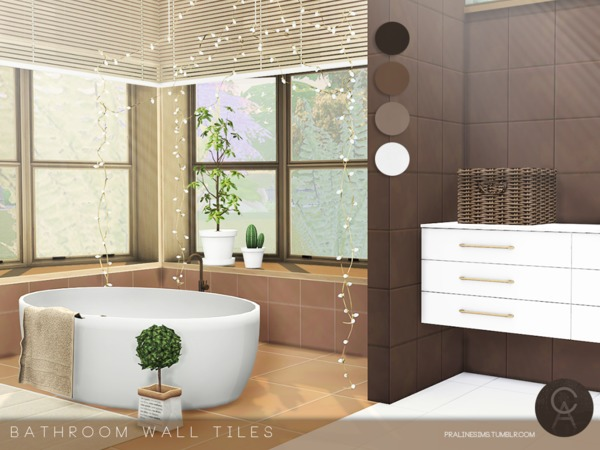 Bathroom Wall Tiles by Pralinesims