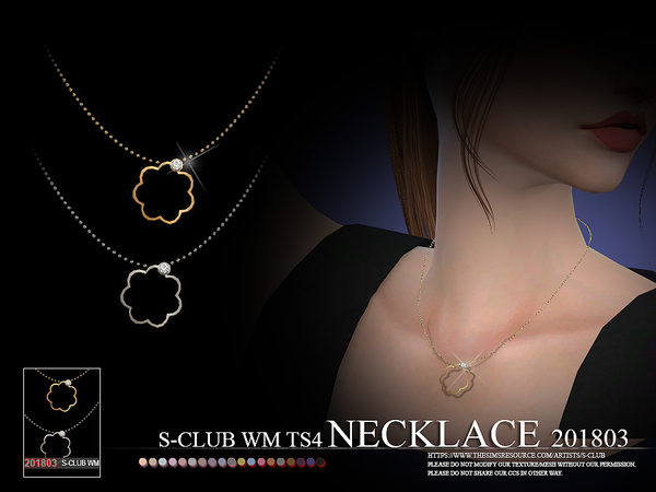 S-Club ts4 WM Necklace F 201803