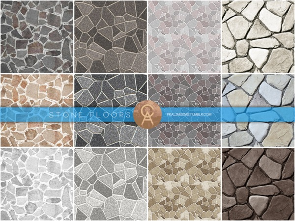 Stone Floors by Pralinesims
