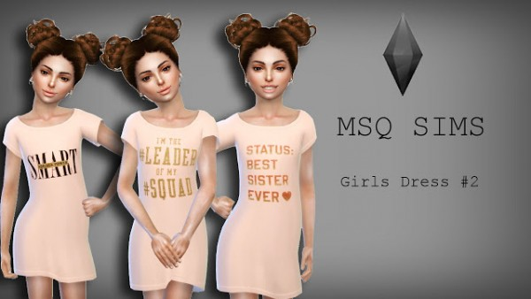 Girls Dress 2 by MSQ Sims