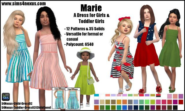 Marie dress by Sims4Nexus