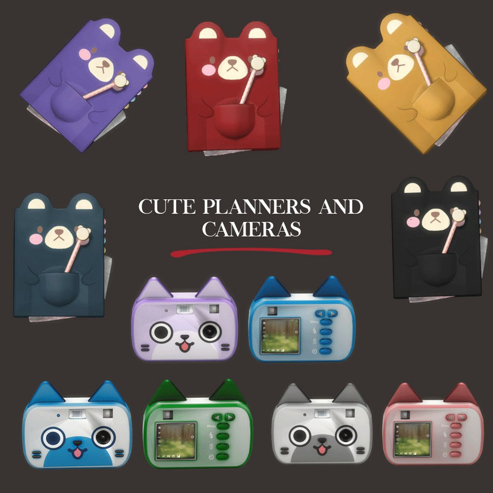 Cute planner & camera decor by Leo-sims