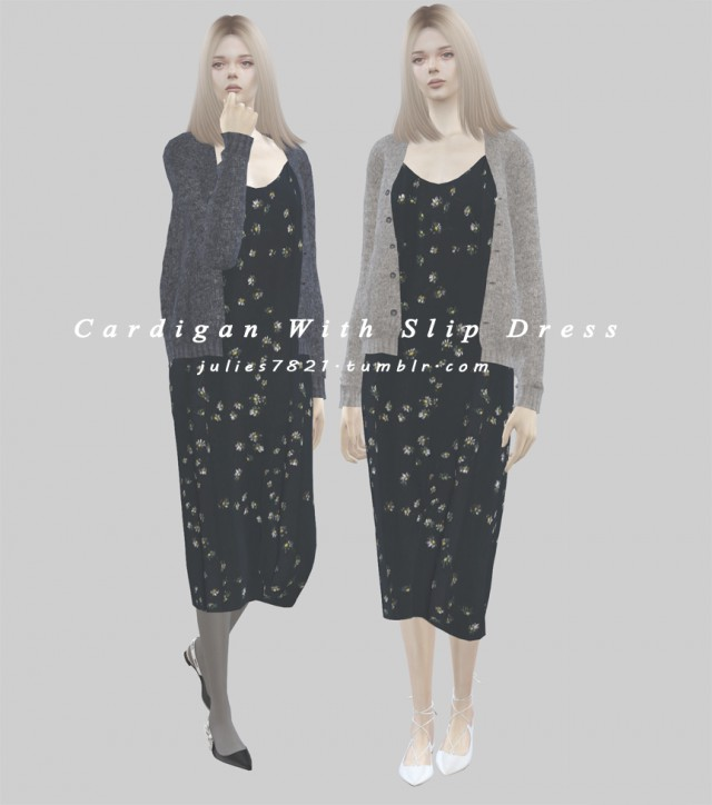 Wool Cardigan With Slip Dress by Julies