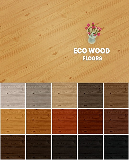 Eco wood floors by LinaCherie