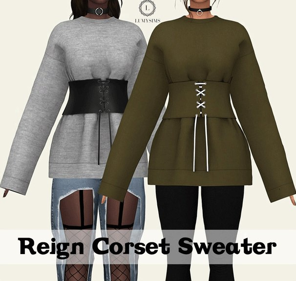 Reign Corset Sweater by Lumysims