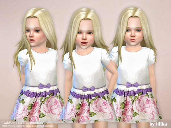 Toddler Floral Print Dress by lillka