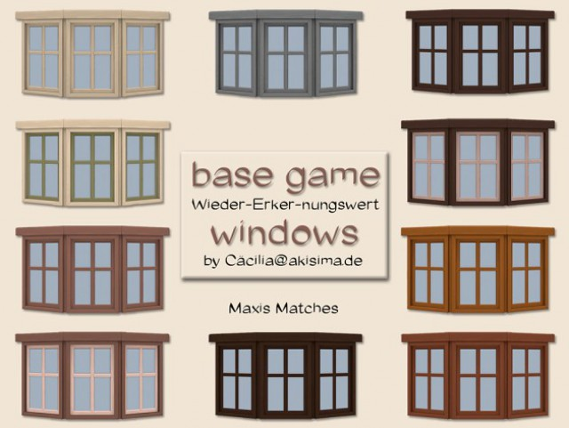 Base game windows by Cacilia