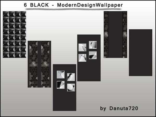 D720-BLACK-ModernDesignWallpaper by Danuta720