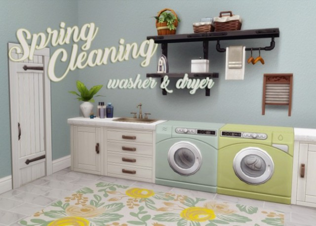Spring Cleaning Washer & Dryer by HamburgerCakes