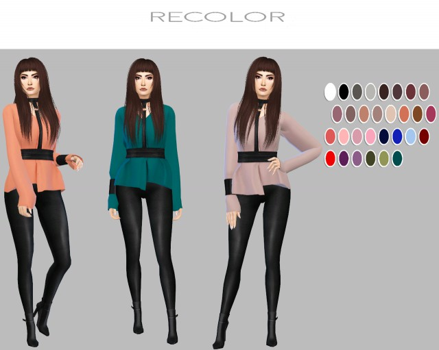 Ruby Top (30 Colors + 16 Patterns) by Simply-Simming