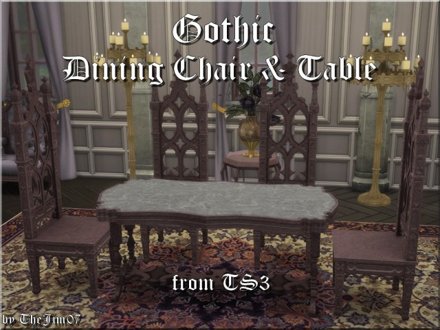 Gothic Dining Chair & Table by TheJim07