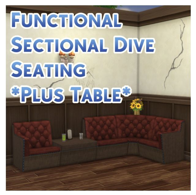 TS3  TS4 Functional Sectional Dive Seating *Plus Table* by Menaceman44