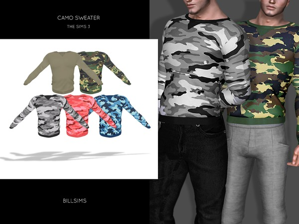 Camo Sweater by Bill Sims