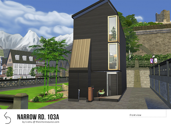 NARROW RD 103A House by k-omu