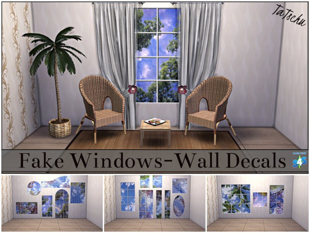 Wall Decals of 15 Fake Windows by TaTschu