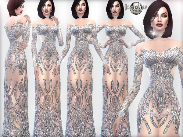 asled cocktail dress by jomsims