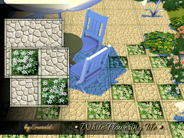 White Flowering Tile by emerald