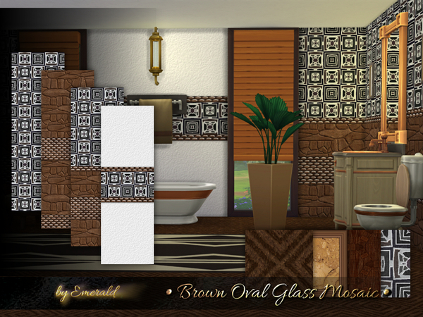 Brown Oval Glass Mosaic by emerald