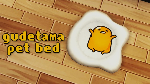 Gudetama pet bed by iliketodissectsims
