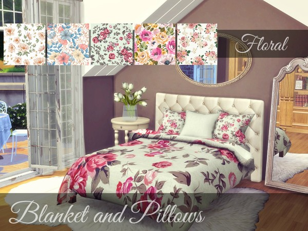 Floral Bedding - Severinka's Alwine Recolor-MESH NEEDED by Sooky