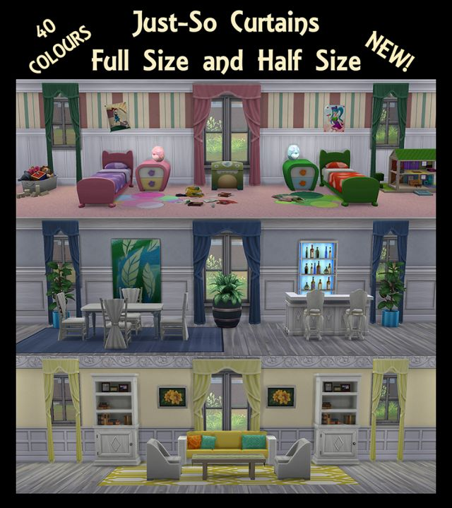 Just So Curtains Full and Half Size by Simmiller