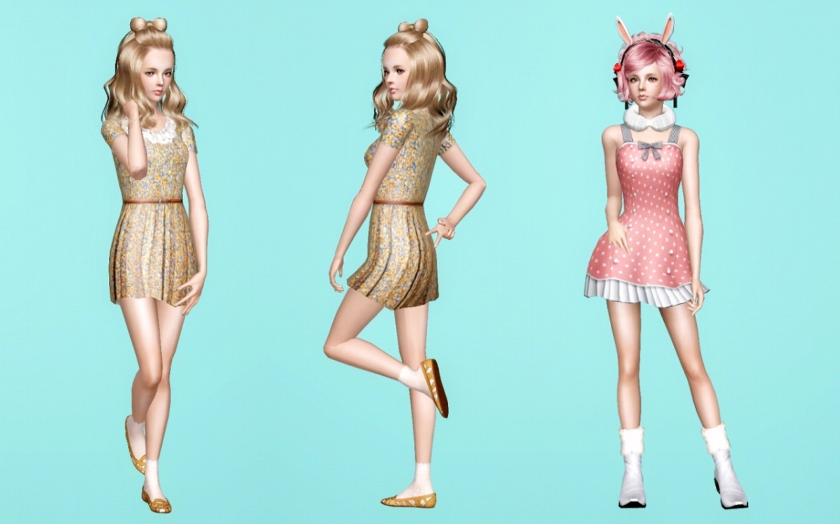 Girls pose pack 2 by min-k65