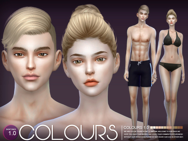 S-Club ts4 WMLL COLOURS skintones 1.0