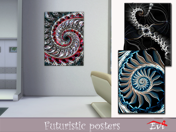 Futuristic posters by evi