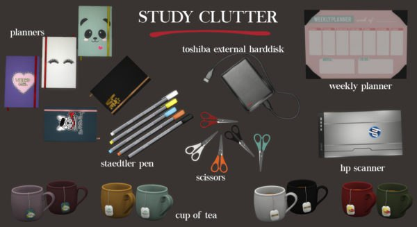 Study clutter by Leo-Sims